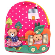 Medium Childs Backpack Bag Pumpkin Design