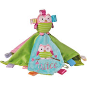 Personalised Oodles Owl Character Taggie Baby Comforter