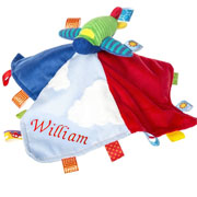 Personalised Wheelies Airplane Character Taggie Comforter