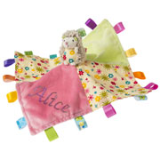Personalised Petals Hedgehog Character Taggie Baby Comforter