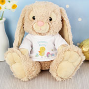 Personalised Easter Meadow Bunny in a T-Shirt