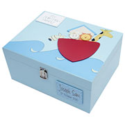 Large Wooden Personalised Keepsake Box - Noah's Ark