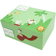 Large Wooden Personalised Keepsake Box - Jungle