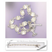 First Holy Communion Rosary Bracelet