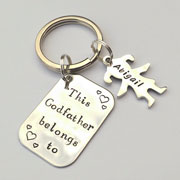This Godfather Belongs to... Personalised Keyring