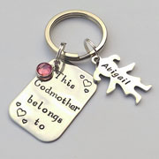 This Godmother Belongs to... Personalised Keyring