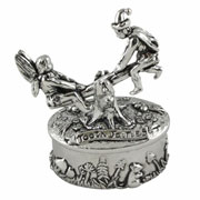 Pewter Fairies On Seesaw Tooth Box