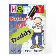 Personalised Bang on the Door Father's Day Card - Free Del