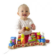 Wooden Animal Puzzle Train By Orange Tree Toys