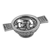 Pewter Celtic Knot Quaich Small