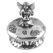 Pewter Kneeling Tooth Fairy Box Christening or Baptism