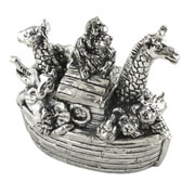 Pewter Noah's Ark Trinket Box