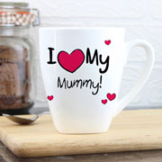 Personalised I Heart My Dad/Daddy/Mummy/Grandad Latte Mug