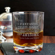 He Is... Engraved Whisky Glass