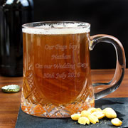 Engraved Half Pint Crystal Tankard