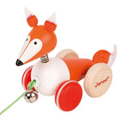 Janod Wooden Pull Along Fox Toy