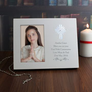 Personalised Light Up Frame For Christening Communion