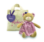 Kaloo Petite Rose Bear Doll in a Bag
