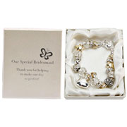 Silver and Gold Special Bridesmaid Charm Bracelet