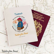 Paddington Personalised Leather Passport Holder