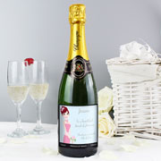 Personalised Fabulous Bridesmaid Champagne