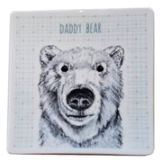 East of India Daddy Bear Coaster