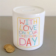 With Love on Your Christening Day Money Box