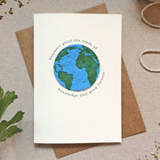 Plantable Globe Teacher Thank You Card Seeds of Knowledge