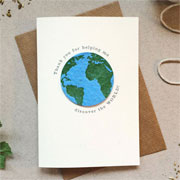 Plantable Globe Teacher Thank You For Helping Me Card