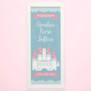 Princess Castle Framed Personalised Name Print