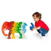 Fair Trade Jumbo Elephant Wooden Jigsaw Puzzle by Lanka Kade