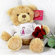 Cartoon Bridesmaid Personalised Message Bear