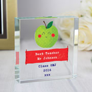 Happy Apple Large Personalised Crystal Token