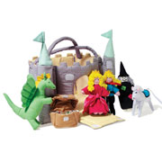 Green Turret Fabric Toy Castle by Oskar and Ellen