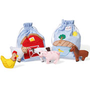 Oskar and Ellen Farmyard Story Bag Play Set