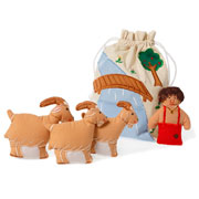 Oskar and Ellen Three Billy Goats Gruff Story Bag Play Set