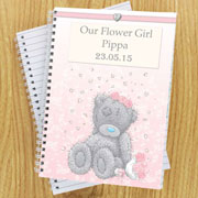 Personalised Me To You Girl's Wedding Notebook