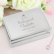 Personalised Wedding Bridesmaid Jewellery Box