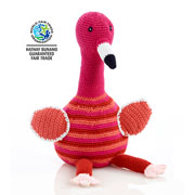 Fair Trade Large Crochet Flamingo by Pebble