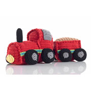 Fair Trade Crochet Rattling Train and Wagon by Pebble
