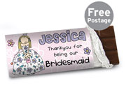 Personalised Bang on the Door Wedding Girls Chocolate Bar