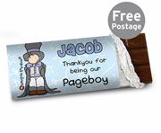 Personalised Bang on the Door Wedding Boys Chocolate Bar