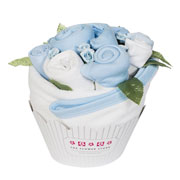 Cupcake Clothing Bouquet Blue Baby Boy