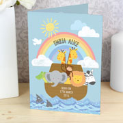 Personalised Noah's Ark Card - Exclusive - Free Delivery