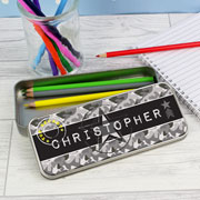Personalised Army Camo Colouring Pencil Tin and Pencils