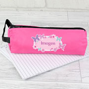 Personalised Pink Butterfly Pencil Case