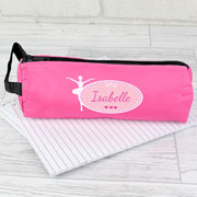 Personalised Pink Ballerina Pencil Case