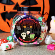 Personalised Halloween Sweet Jar and Sweets