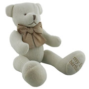 My First Birthday Knitted Cotton Teddy Bear by Bambino