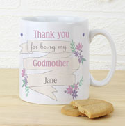 Personalised Garden Bloom Godmother Mug